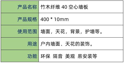 点击查看竹木纤维40空心墙板大图